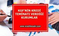 KGF'nin Kredi Teminatı Verdiği Kurumlar