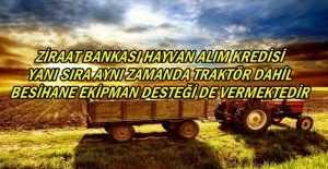 Ziraat Bankası Hayvan Alım Kredi Destekleri